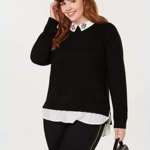 Charter Club Pure Cashmere Layered-Look Sweater